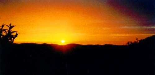 Sonnenuntergang ein phantastisches Naturerlebnis