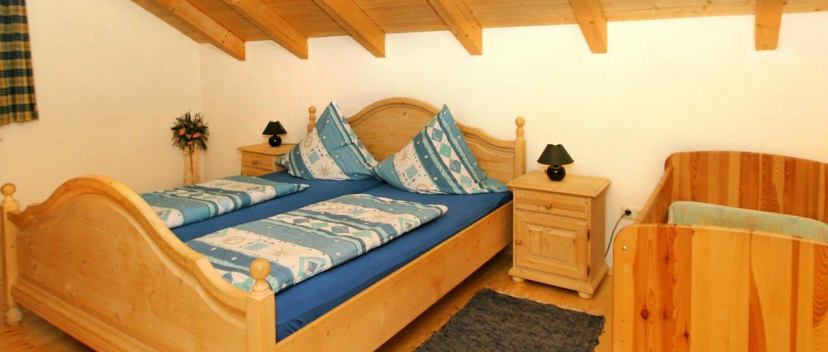 Schlafzimmer im Ferienhaus Fischer in Regenhütte bei Bayerisch Eisenstein