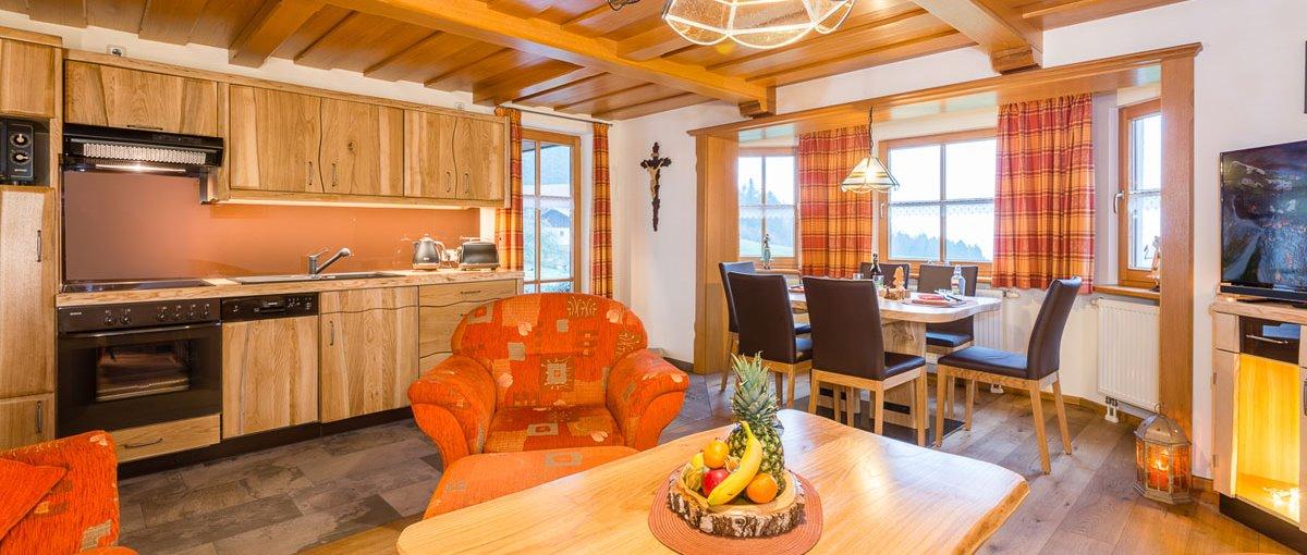 Ferienwohnungen & Zimmer mit Frühstück Pension in idyllischer Alleinlage Wohnkücher