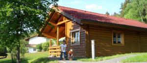 Ferienhaus mit Hund in Stamsried Blockhaus Hedwig