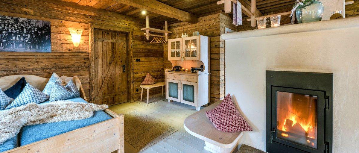 Bayerischer Wald Hütten mit Sauna und Kaminofen in Bayern Bergdorf Hüttenhof in Grainet