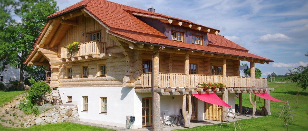 Bayern Blockhaus Urlaub am Bauernhof Lugerhof im Landkreis Cham